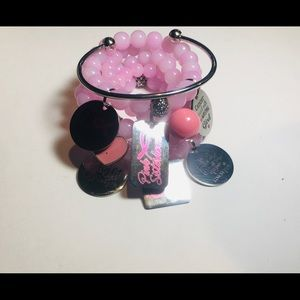 Jewelry - Breast Cancer Awareness Beaded Charm Bracelets